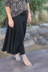 Graceful black linen skirt