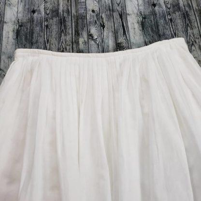No Brand micro pleated white skirt